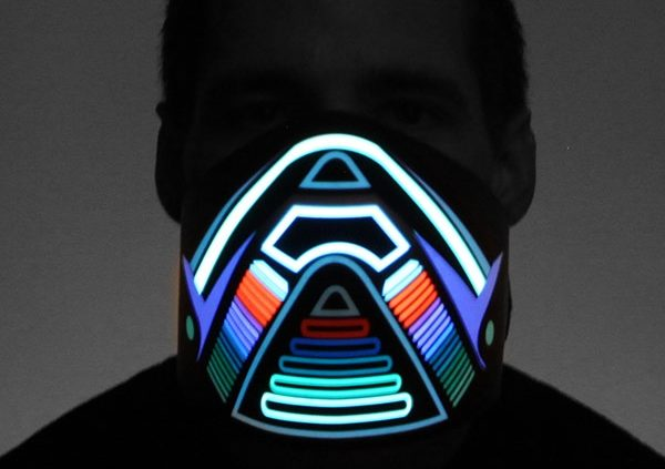 light up dj mask