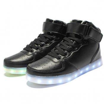 led light up shoes for men black 3