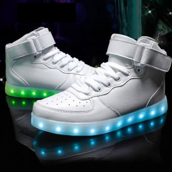 mens led shoes white