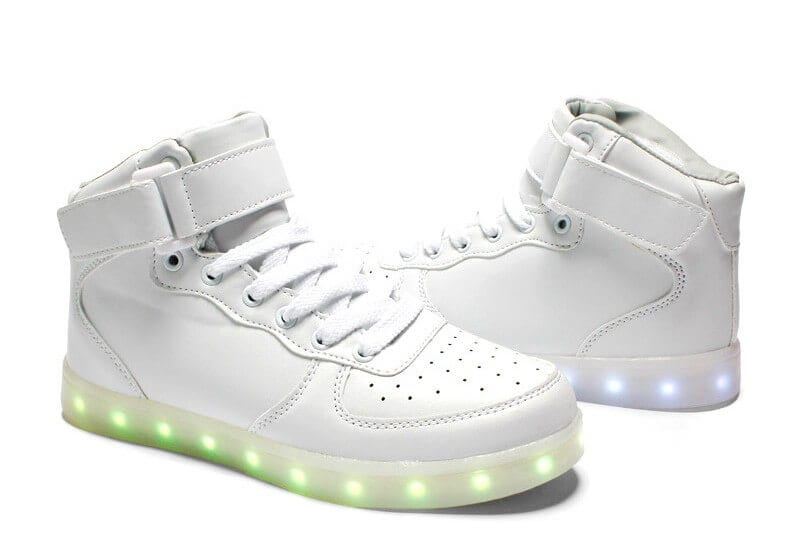 white color mens led shoes