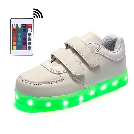 white led shoes low top straps remote