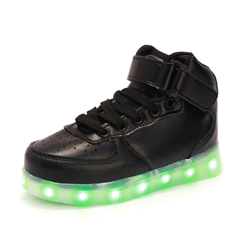 LED Shoes Kids Black High