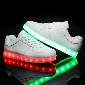 led shoes white