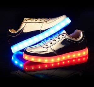 low top gold led shoes 1