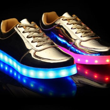 low top gold led shoes 2