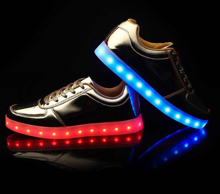 low top gold led shoes 3