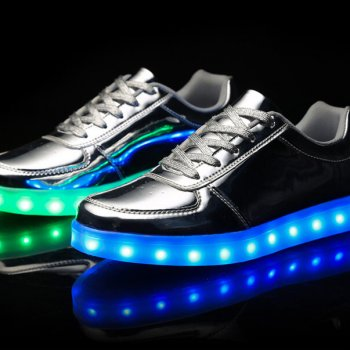 low top silver led shoes 1