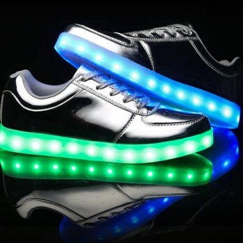 low top silver led shoes 2