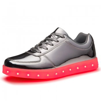 led shoes silver