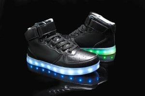 mens led shoes high top black 2