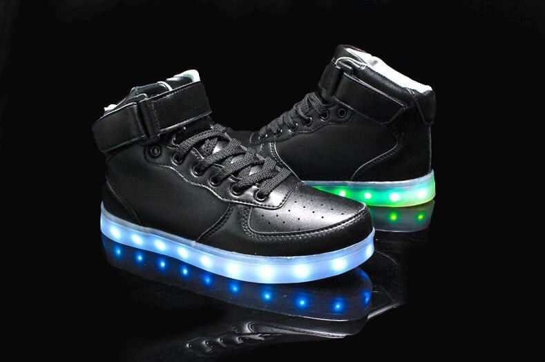 light up shoes for men high top black