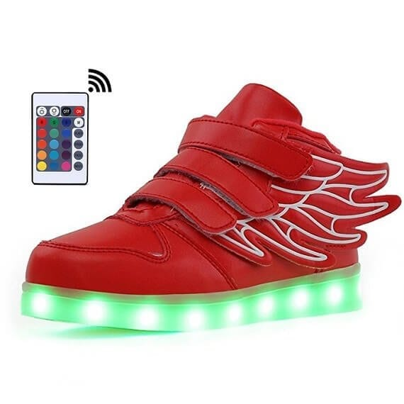 390c8b7f6b65 Bright Wings LED Shoes Kids Red Remote