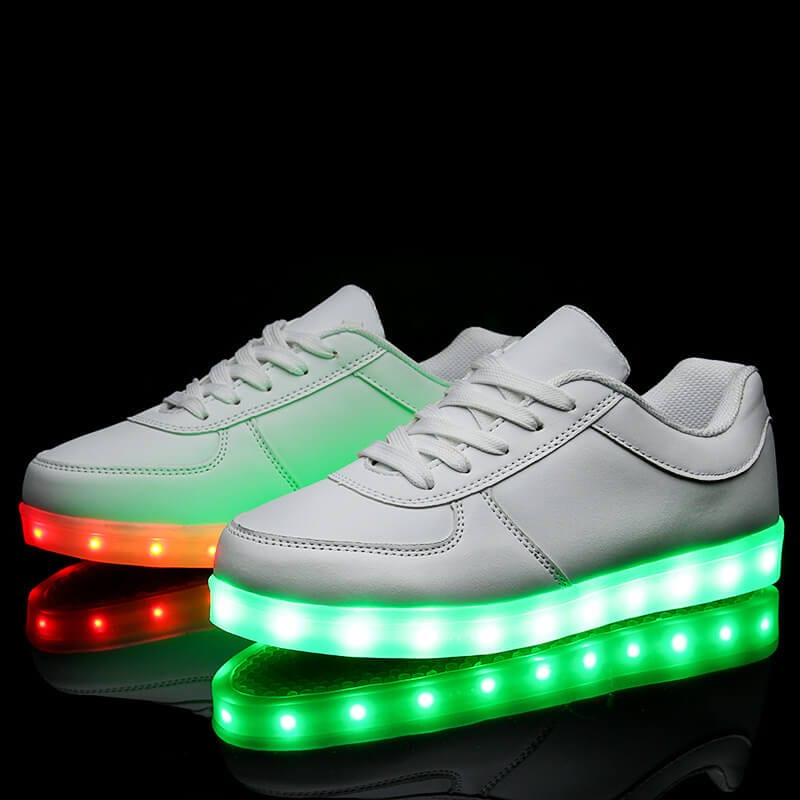 low priced 8280f 44bb9 Light Up Trainers Kids Black Remote