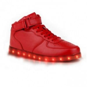 light up shoes red