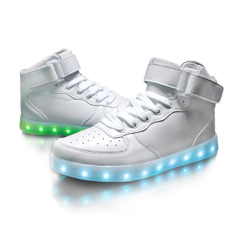 cac13af282a0 white led shoes with remote control. white ...