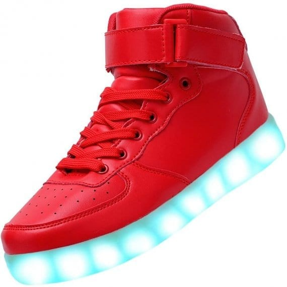 led shoes color red
