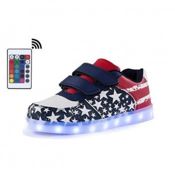 american flag remote led shoes