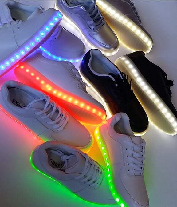 colorful led shoes