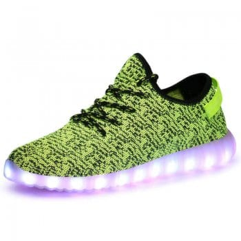 green led shoes