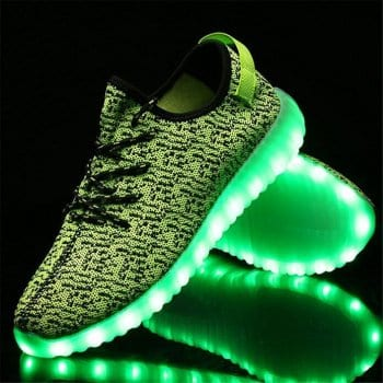 green yeezy led shoes