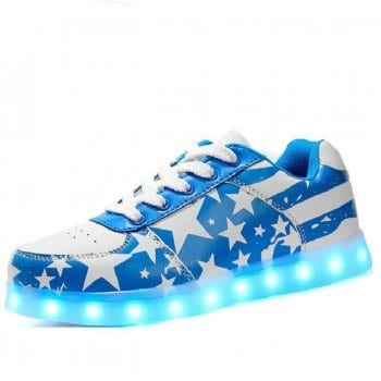 blue light up shoes