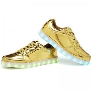 led shoes gold side view