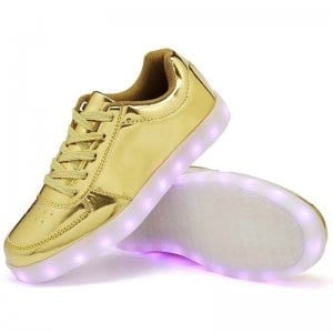 light up shoes gold