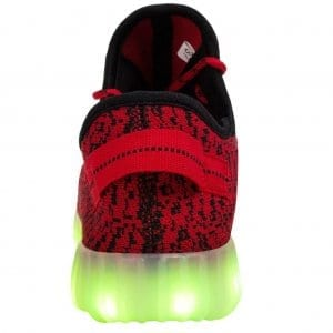 light up shoes red yeezy