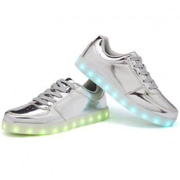 light up shoes silver