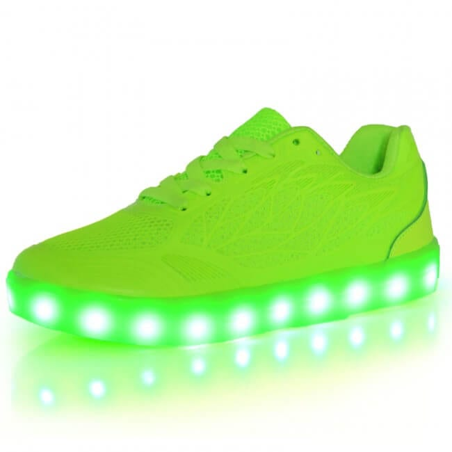 539d4caf45b7f2 LED Light Up Trainers Women Neon Green