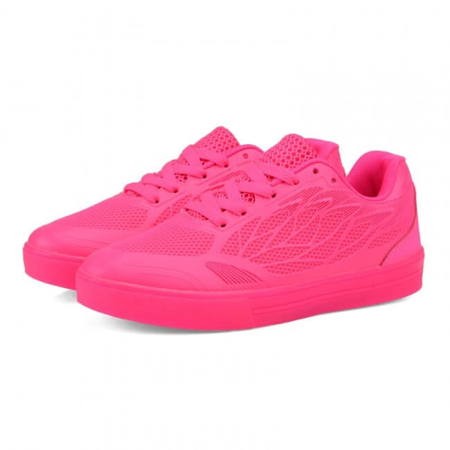 Led Light Up Trainers Women Neon Pink