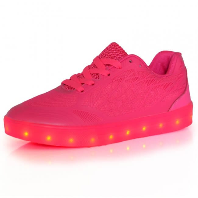 cb700d063 LED Light Up Trainers Women Neon Pink