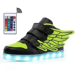 black led shoes wings