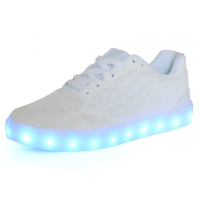 d5b808084 LED Light Up Trainers Women Neon White