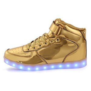 gold light up shoes