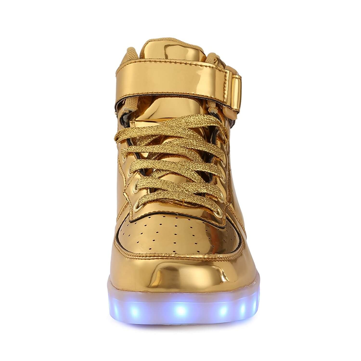 LED Shoes Kids High Top Gold Remote 7591c6621
