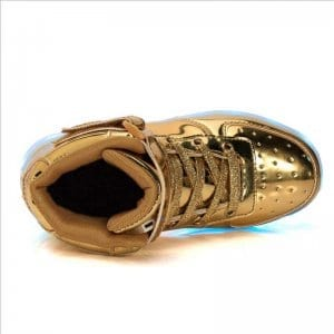led shoes gold sole