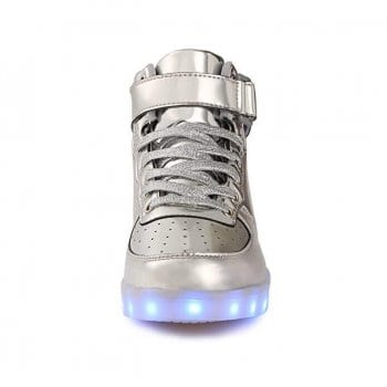 light up shoes silver front