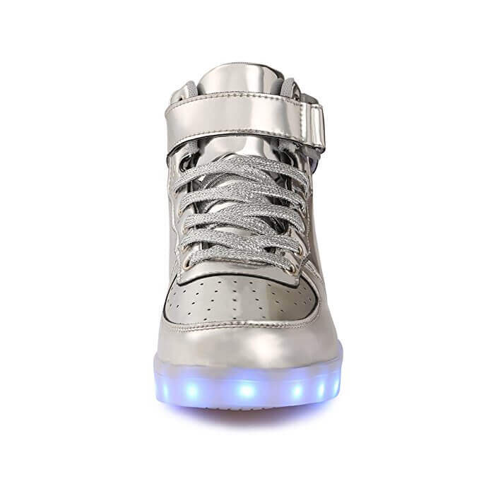 silver light up shoes with remote control. silver ... b78536420