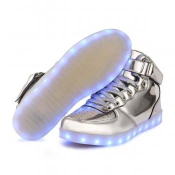 light up shoes silver side profile