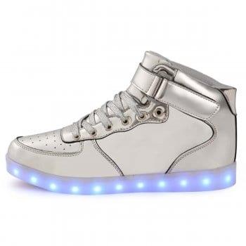 light up shoes silver side shot