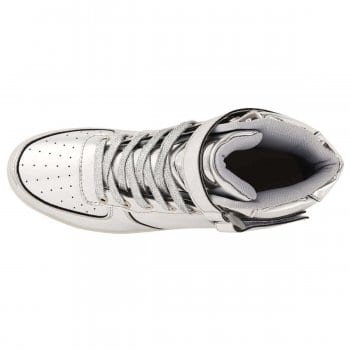 light up shoes silver top view