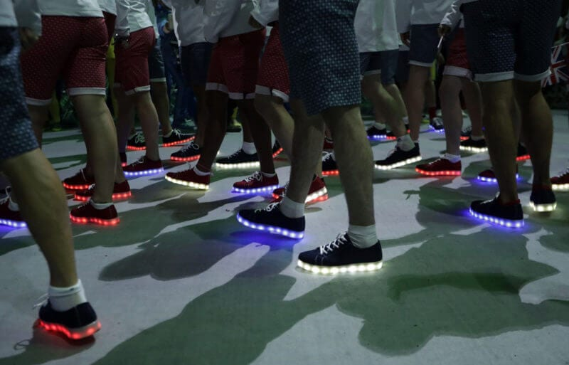 led shoes olympics