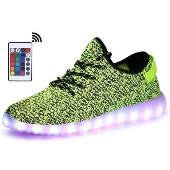 Remote Control Led Shoes Womens Pink Color High Top Shoes With Usb Charging Lace Up Luminous Casual Neon Dancing Party Sneakers Men's Casual Shoes