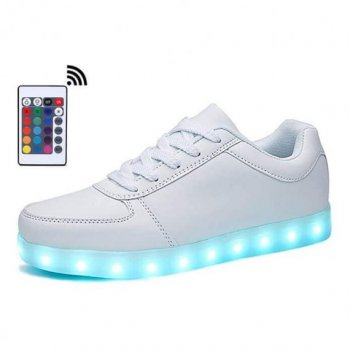 low top white led shoes remote control