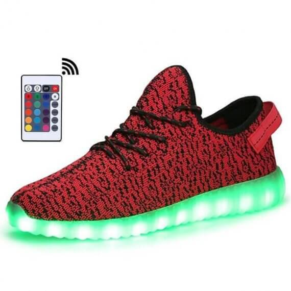 red light up shoes remote control