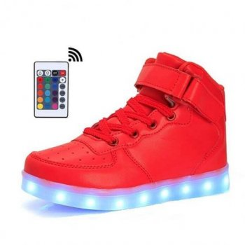 red led shoes remote control