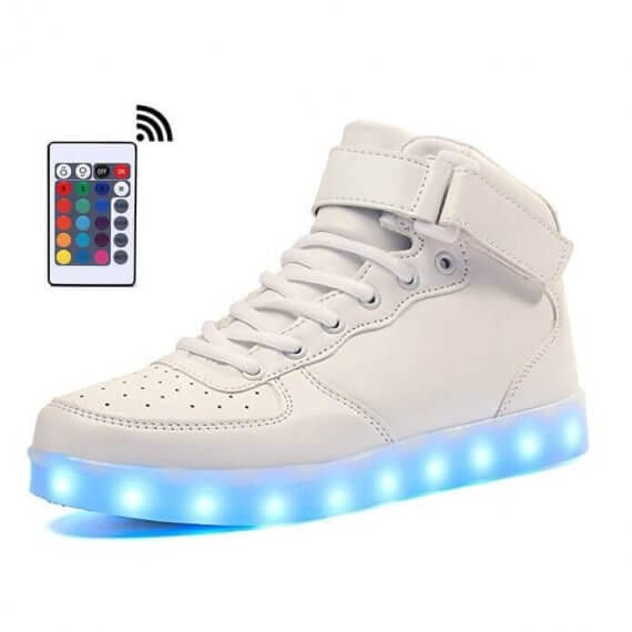white led shoes with remote control