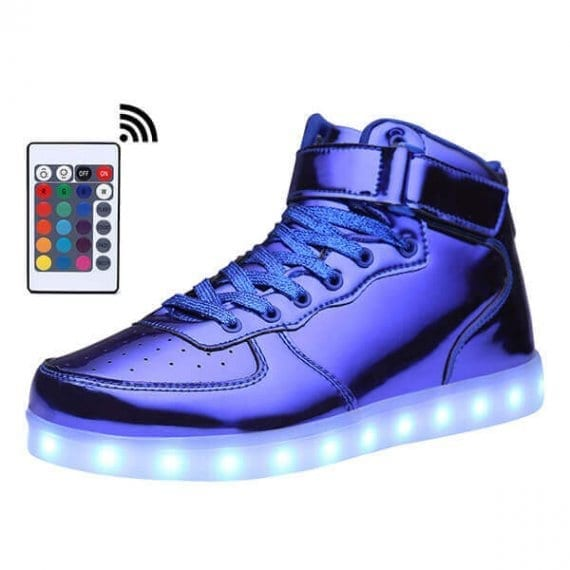 Led Shoes Women Blue High Top Platinum
