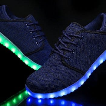 blue led shoes canvas remote control 3